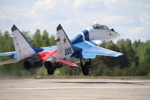 MiG-29 Jet fighter taking off