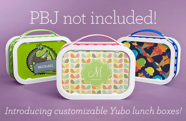 PBJ not included! Introducing customizable Yubo lunch boxes!